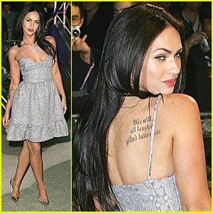 Megan Fox Has a Tattoo Next to Her Pie