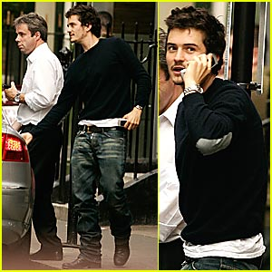 Orlando Bloom Lunches in London