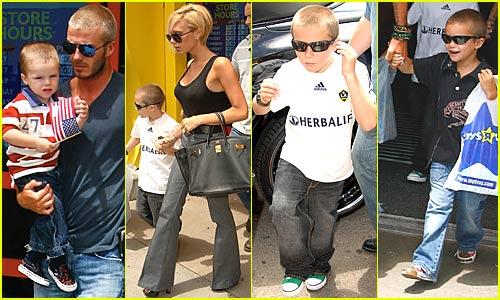 The Beckham Family @ Toys