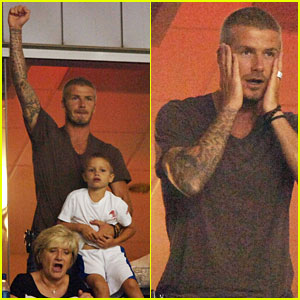 Becks Joins the Cheering Squad