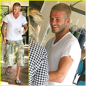 David Beckham @ Coffee Bean & Tea Leaf