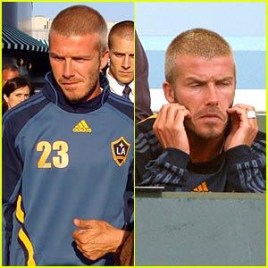 David Beckham Watches His Galaxy