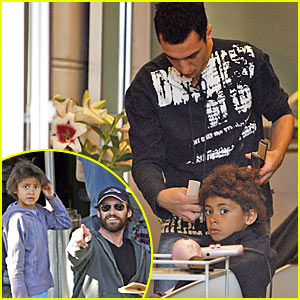 Hugh Jackman's Son Gets His Hair Straightened