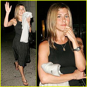 Jennifer Aniston's Big Apple Dinner