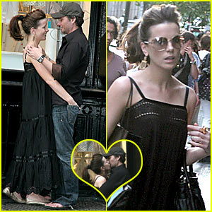 Kate Beckinsale's Public Make-Out Session