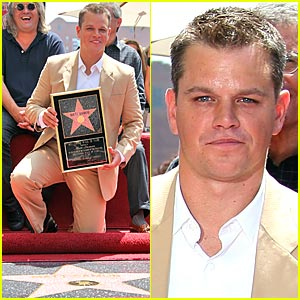Matt Damon Gets 'Walk of Fame' Star