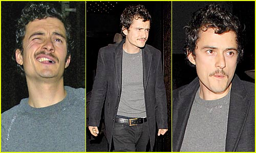 Orlando Bloom Makes Funny Faces