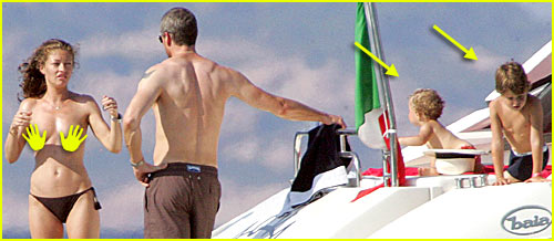 Rebecca Gayheart Goes Topless Tanning