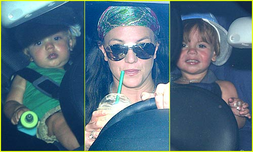 Britney Takes Her Sons For a Spin