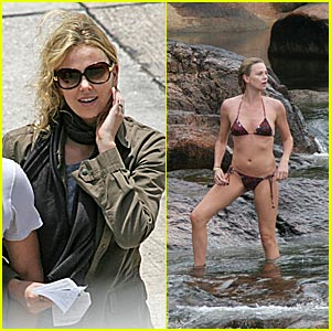 Charlize Enjoys the Breeze in Belize