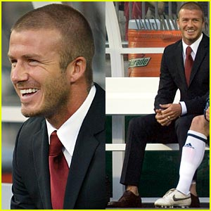 Beckham Benched in Suit
