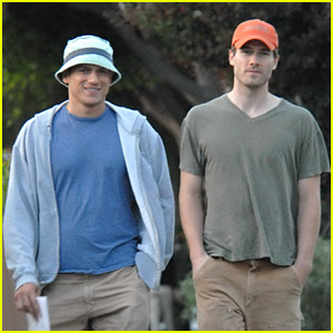 Luke MacFarlane Steps Out with Wentworth Miller