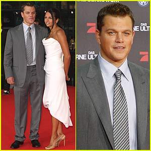 Matt Damon is Bourne Again in Germany