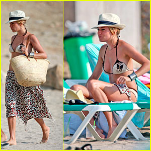 A Day at the Beach with Sienna Miller