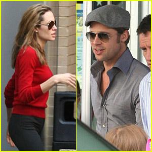 Angelina Jolie Uses the Backdoor