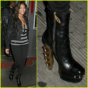 Beyonce's Brass Knuckle Boots