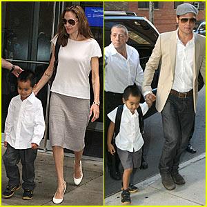 Papa Pitt and Momgelina Take Turns