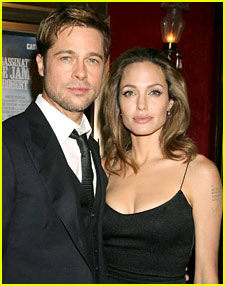 Brad & Angelina @ 'Jesse James' Premiere