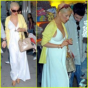 Christina Aguilera Shops Baby Kitson