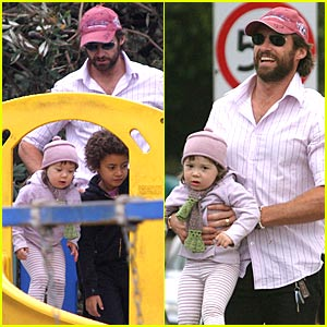 Hugh is a Hands-On Dad
