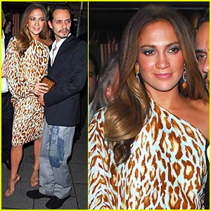 Jennifer Lopez Dines with Philip Green