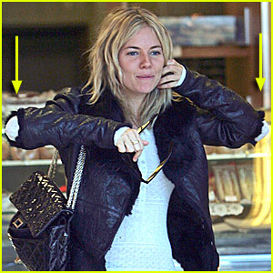 Sienna Miller: The Elbow Jacket is Back!