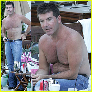 Simon Cowell is Shirtless