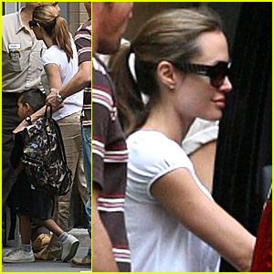 Angelina Jolie is a Garage Kinda Girl