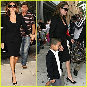 Angelina Switches to Signature Black