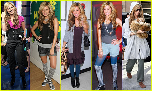 Ashley's Tisdale Five-Outfit Frenzy