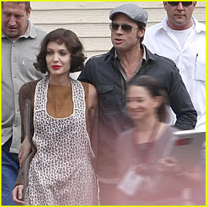 Brad Pitt Visits 'The Changeling'