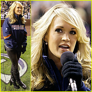 Carrie Underwood Sings National Anthem