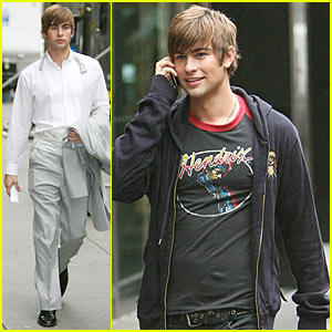 Spotted: Chace Crawford on the 'Gossip Girl' Set