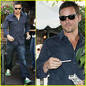 Justin Chambers is Smoking (What's New?)