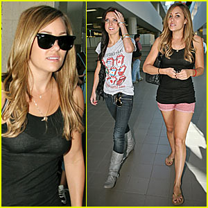 Lauren and Audrina @ LAX Airport