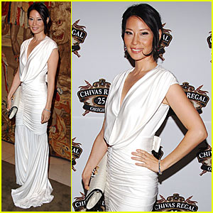 Lucy Liu Downs Some Whiskey
