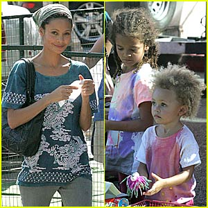 Thandie Newton's Kids Day Out