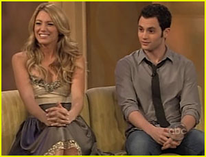 Blake Lively & Penn Badgley @ The View