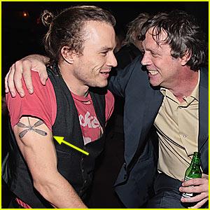 Heath Ledger's New Dragonfly Tattoo