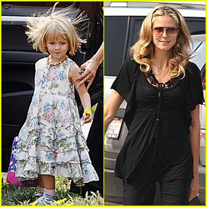 Heidi Klum Takes Leni to School