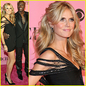 Heidi Klum and Seal @ Victoria's Secret Pink Carpet