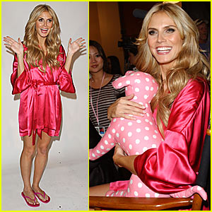 Heidi Klum Preps For Victoria's Secret Fashion Show