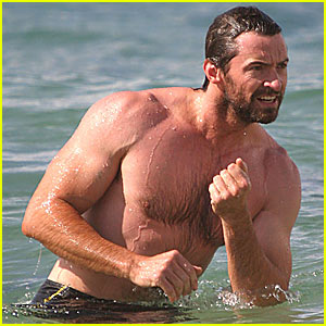 Hugh Jackman is a Beach Bum