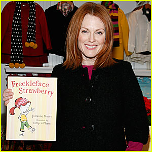 Julianne Moore is Freckleface Strawberry