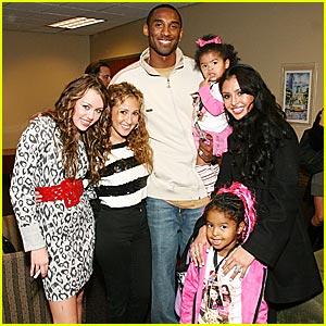 Miley Cyrus Meets Kobe Bryant