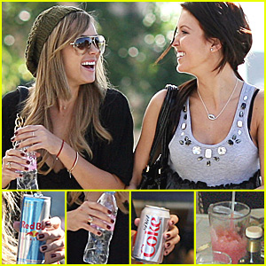Lauren and Audrina Shop and Stay Hydrated