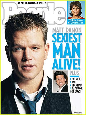 Matt Damon is People's Sexiest Man Alive