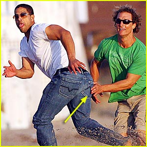 McConaughey Taps Ass -- Literally!