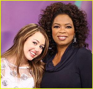 Miley Cyrus on Oprah