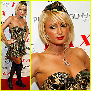 Paris Hilton's Army Halloween Costume